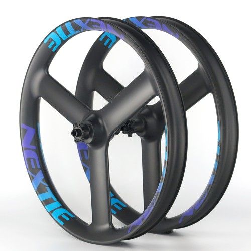 "[NXT65BE-TS] [Black Eagle Tri-Spoke] 65mm Width Carbon Fat Bike 26"" Wheel Tri-Spoke Tubeless Compatible"