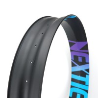 "[NXT26XS105] [Xiphias] PREMIUM 105mm Width Carbon Single Wall Fat Bike 26"" Rim [Tubeless Compatible]"