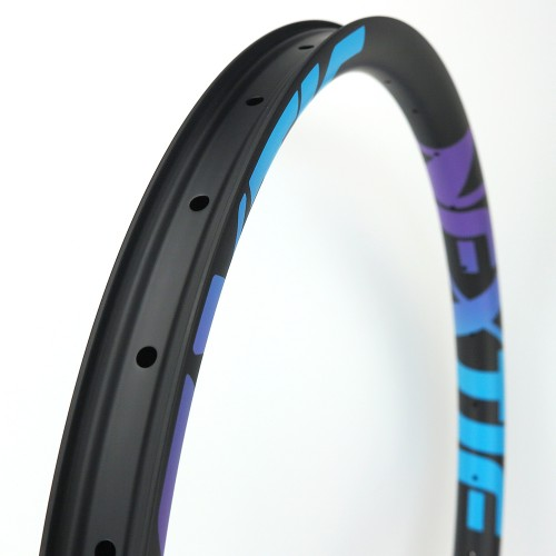 "[NXT27XM41] PREMIUM 41.4mm Width Carbon Fiber 27.5"" Mountain Bike Clincher Rim [Tubeless Compatible]"