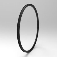 "[NXT29AS28] Asymmetric 28mm Width Carbon Fiber 29"" Mountain Bike Clincher Rim [Tubeless Compatible]"