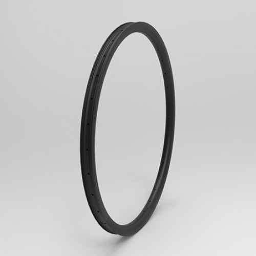 "[NXT26RM35] 35mm Width Carbon Fiber 26"" MTB Clincher Rim Hookless [Tubeless Compatible]"