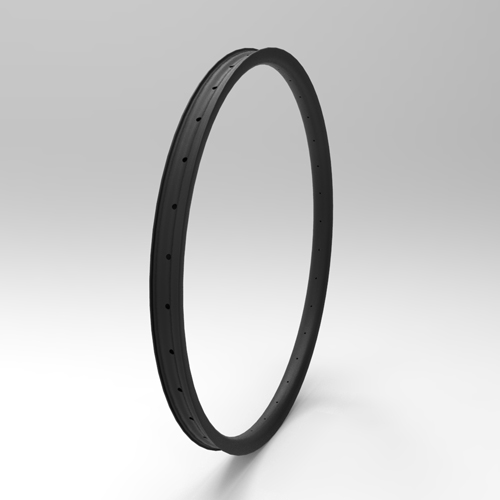 [NXT29AS45] Asymmetric 45mm Width Carbon Fiber 29+ PLUS Mountain Bike Clincher Rim [Tubeless Compatible]