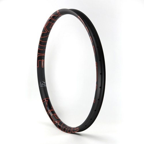 [NXT27XA45] PREMIUM Asymmetric 45mm Width Carbon Fiber 27.5+ 650B PLUS Mountain Bike Clincher Rim [Tubeless Compatible]