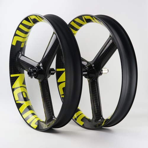 "[NXT90WD-TS] [Wild Dragon Tri-Spoke] 90mm Width Carbon Fat Bike 26"" Wheel Tri-Spoke Tubeless Compatible"