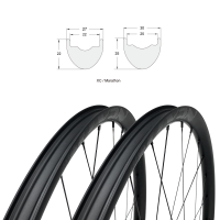 "[Tubeless Ready XC] 27.5"" Premium Lite Carbon Fiber Wheelset for Cross Country [Front+Rear]"